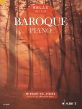 Relax with Baroque Piano Sheet Music 35 Beautiful Pieces Piano Book 049045131
