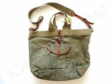 New Ralph Lauren RRL Worn Army Green Leather Trim Large Tote Bag