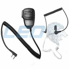 Speaker Mic and 3.5mm Listen Only Earpiece Kenwood 2-Pin Radio TK NX Series