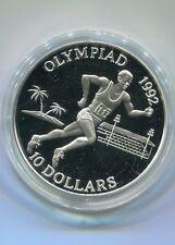 Solomon Islands 10 Dollars Olympiade Läufer 1992 1991 Silber PP (M2085)
