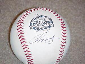 Chipper Jones 1993-2012 Career Signed Baseball PSA DNA Atlanta Braves