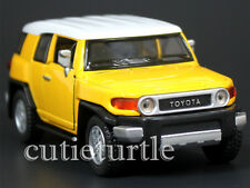 Kinsmart Toyota FJ Cruiser SUV 1:36 Diecast Toy Car KT5343D Yellow