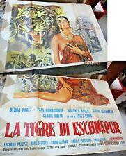 LA TIGRE DI ESCHNAPUR manifesto 4F  originale 1959 FRITZ LANG