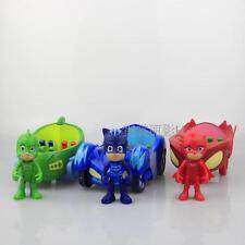3PCs PJ Masks Action Figure Catboy Owlette Glider Gekko Spielzeugautos Car Auto