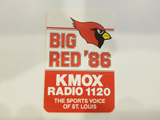 St. Louis Cardinals 1986 NFL Football Pocket Schedule - KMOX Radio 1120