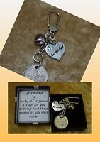 GRANDAD heart charm lucky Sixpence coin keepsake gift boxed with poem, memories