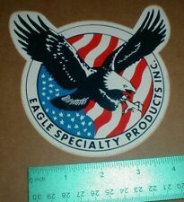 Vtg Eagle Specialty Products Inc Patriotic USA Flag auto Racing Decal Sticker
