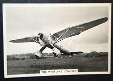 RAF  Westland Lysander   Superb Original 1938 Black & White Photo Card  ## VGC