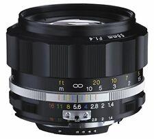 Voigtlander 2016 Nokton 58mm F1.4 Sl II AI-S Negro Borde para Nikon F Mount Nib