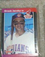 CLEVELAND INDIANS 1989 DONRUSS TEAM SET 24 CARD SET JACOBY SWINDELL FRANCO JONES