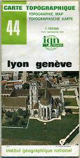 Carte Topographique IGN France 1:100000 44 Lyon Genève