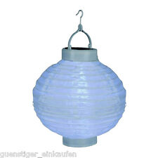 Lampion LED 30cm Hochzeit Party Laterne Reispapier Weiß Deko Sommer Garten