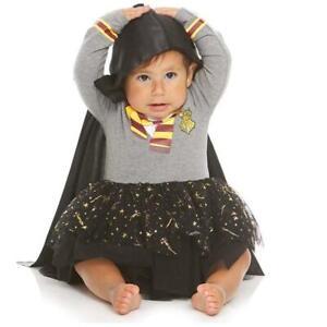 Baby Girls HARRY POTTER Tutu Dress Costume Size 24 Mo NWT Hooded Cape Hogwarts