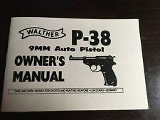 Walther P-38 9mm Auto Pistol Owners Manual