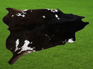 """100% New Cowhide Rugs Area Cow Skin Leather (57"""" x 57"""") Cow hide SA-7079"""