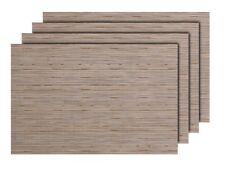 4er Set edle Platz-Matten TS78 beige Tisch-Sets Platzset Tischmatten Untersetzer
