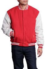 New Men's Wool & Leather Letterman College Baseball Varsity Jacket-VJ100A