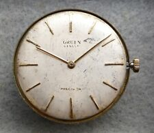 Gents Gruen Precision watch movement, functions well, fair condition as shown.