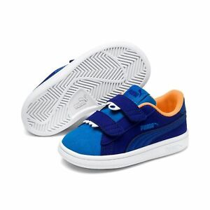 Puma Smash v2 Monster V Inf Low-Top Children Shoes Trainers 369681 Surf the Web