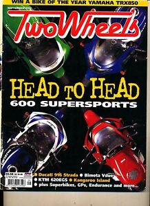 Two Wheels Magazine Sept 1997 CBR600 ZX-6R YZF600 GSX-R600 Ducati 916 KTM 620GS