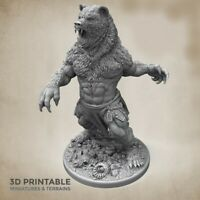 ULFWERENER (HOMBRE OSO) SCALE 32mm  MORDHEIM ZOMBICIDE DnD ROL WARHAMMER