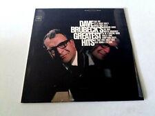 "DAVE BRUBECK ""DAVE BRUBECK'S GREATEST HITS"" LP VINYL 12"" MBE/VG EX/EX USA"