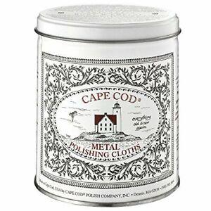 Cape Cod Metal Polishing Cloths Economy Size Tin - 12 Cloths and Buffing Cloth