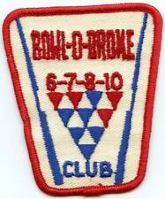 Vintage BOWL-O-DROME Bowling League Club Award Patch 6 7 8 10 6-7-8-10 Club
