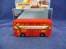 "MATCHBOX SUPERKINGS k-15 THE LONDONER Bus"" Petticoat Lane "" en Rojo"
