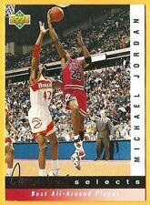 MICHAEL Air JORDAN 1992-93 Upper Deck Jerry West Selects #JW8 Chicago Bulls HOF