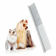 Stainless Steel Pet Cat Dog Hair Comb Fur Rake Dog Grooming Shedding Flea Comb