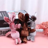 Cute Wishing Rabbit Keychain Animal Doll Cartoon Plush Toy Rabbit Keych X4_N