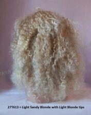 Afro Fizzy Full Volume Dark Brown, Sandy Blonde or 3Tone Brown/Copper Wig