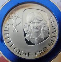 Numisbrief STEFFI GRAF pro Olympia 1988 - mit Fein -Silber Medaille 20g