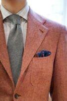 Men Pink Herringbone Tweed Suit Wool Blend Groom Tuxedo Prom Party Formal Suit