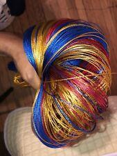 100Yards Multicolor Metallic thread Ribbon Fabric Cloth Felts