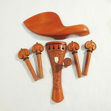4/4 Violin Jujube Wood Fitting Tailpiece Chinrest Pegs Endpin Baroque Abalone