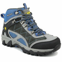 Cotswold Malvern Mid Waterproof Lace Up Leather Walking Womens Hiking Boots Blue