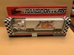 """Matchbox Convoy CY-36 Kenworth Transporter """"Red Bull"""" Boxed See Description"""