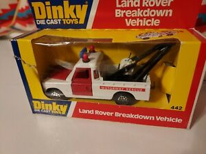 Dinky Toys 442 Land Rover Breakdown Vehicle Tow Truck England Nice!!