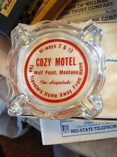 Cozy Motel Acl Advertising Ashtray Wolf Point Montana . Mt Mont