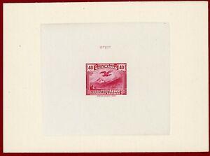 Ecuador 1946 #C53, Die Proof, Condor Flying Over El Altar, Bird,  ABNC