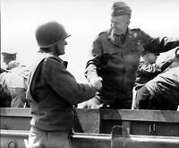 WWII Photo US Army General George Marshall Normandy  WW2 B&W World War Two/ 1348