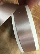 "Vintage FRENCH 5/8"" Double Sided Satin Ribbon 1yd"
