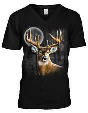 Deer Buck Moon Spirt Animal Wilderness Outdoors Nature Mens V-neck T-shirt