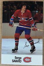 1988-89 SERGE SAVARD ESSO MINI STICKER CARD MONTREAL CANADIENS