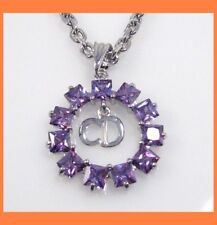 CIRCLE PENDANT AUSTRIAN CRYSTAL NECKLACE JEWELRY -AMET