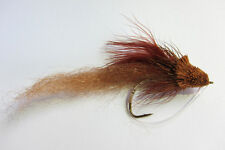 1 x Mouche peche BASS BUG MARRON H 1/0 saltwater hair brown fishing