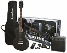 New & Sealed! Epiphone Electric Guitar Pack Les Paul Series - Ebony - Value Pack