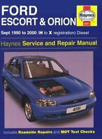 Ford Escort and Orion Diesel Service Repair Manual: 1990 to 2000 (H to-ExLibrary